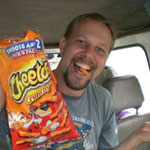 Eating Cheetos in Cameroon