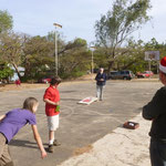 About a week before Christmas, the missionary compound where we were staying, had a fun day of food & games