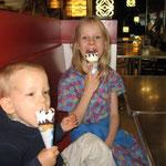 Eating ice cream in Madrid
