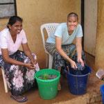 Washing laundry in Jos