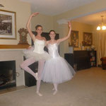 Hannah learned and performed a ballet dance with a friend in Texas.