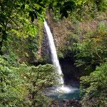 der Wasserfall La Fortuna ist erreicht