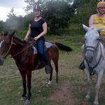 mit den Pferden zum Wasserfall La Fortuna