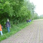 an Feldern vorbei Richtung Tremmen