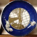 うさぎ印判皿  径12.5cm ¥2,800(希少)