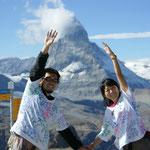 スイス(アルプス山脈を代表する名峰マッターホルン)