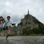 フランス(海に浮かぶ修道院モン・サン・ミシェル)