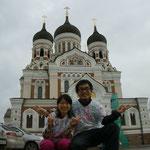 エストニア(かわいい教会前)