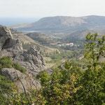 Berg und Tal auf der Krim