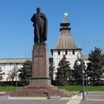 Lenin vor Stadtmauer