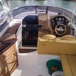 Vista del cockpit hacia proa