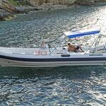 Joker Boat Clubman 28 fondeada