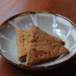 ナンプラー麹とコブミカンの葉のクラッカー 食べた方がみなさん気に入ってくださっています