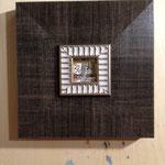 タイトル「音の道」 原画サイズ 5×5cm 額入13000円