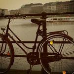 Fahrrad und die Binnenalster
