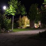 illuminazione soffusa di un giardino per esercizio pubblico