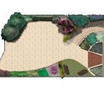 Planimetria a colori per area di ingresso ad abitazione privata