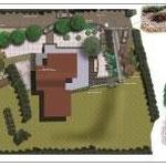 idea progettuale per area esterna di abitazione privata