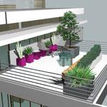 idea progettuale per un terrazzo privato