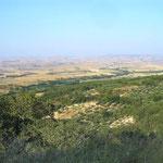 Le pianure del Bradano nel territorio di Oppido Lucano (Pz)