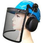3-Pc Kit of Timber Jack: #141 HDPE Safety Helmet + #406 Earmuff + #203M Mesh Face Shield