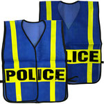 Model #9702 Police Vest with PVC Refleective Straps