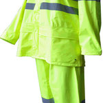 Model #7810HV-Y Hi-Viz Rain-Coat  (170T Polyester/PVC) in Fluorescent Yellow