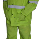 Series #7700HV-1 PVC/Polyester/PVC Rain-Suit in Lime Green