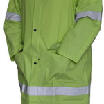Series #7740HV-1 PVC/Polyester/PVC Rain-Coat in Lime Green