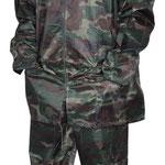 Model #7811 Camouflage Rain-Suit (170T Polyester/PVC)