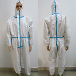 Model NPC-001 Disposable Non-Woven Anti-Chemical Protective Coverall with CE ISO EN13034:2005 + A1:2009 Certificate