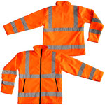 Model #9613-O Hi-Viz Polar Fleece Jacket