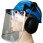 3-Pc Kit of Timber Jack: #141 HDPE Safety Helmet + #406 Earmuff + #203 PC Face Shield
