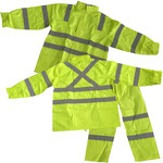 Model #7813HV Polyester with PVC Coating Hi-Viz Rain-Set