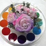 プリザーブドフラワーコンテスト「色相環」のパープル