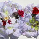 リースの壁飾り プリザーブドフラワーでちょっと大人っぽい!親子で2点製作 最新の開花法です