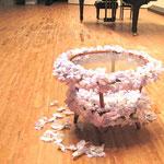 アーティフィシャルフラワーにてテーブル装花