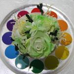 プリザーブドフラワーコンテスト「色相環」のグリーン