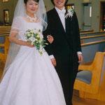 生徒さんの結婚式のお写真頂きました