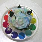 プリザーブドフラワーコンテスト「色相環」のブルー
