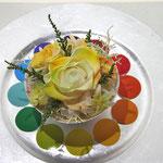 プリザーブドフラワーコンテスト「色相環」のイエロー