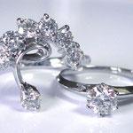 一粒ダイヤを取りかこむように新しくリフォームリングを製作
