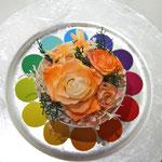 プリザーブドフラワーコンテスト「色相環」のオレンジ
