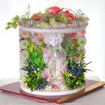 ユザワヤ創作大賞展プリザーブドフラワー入選作品「化身」
