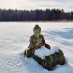 Verschneiter Buddha