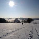 Ausritt in winterlicher Landschaft