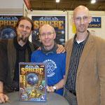 Das AquaSphere-Team: Dennis Lohausen, Ralph Bruhn, Stefan Feld