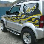 Personnalisation véhicules adhésif