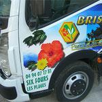 décor publicitaire camion impression numérique grand format