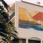 Création décor réalisé en mosaique